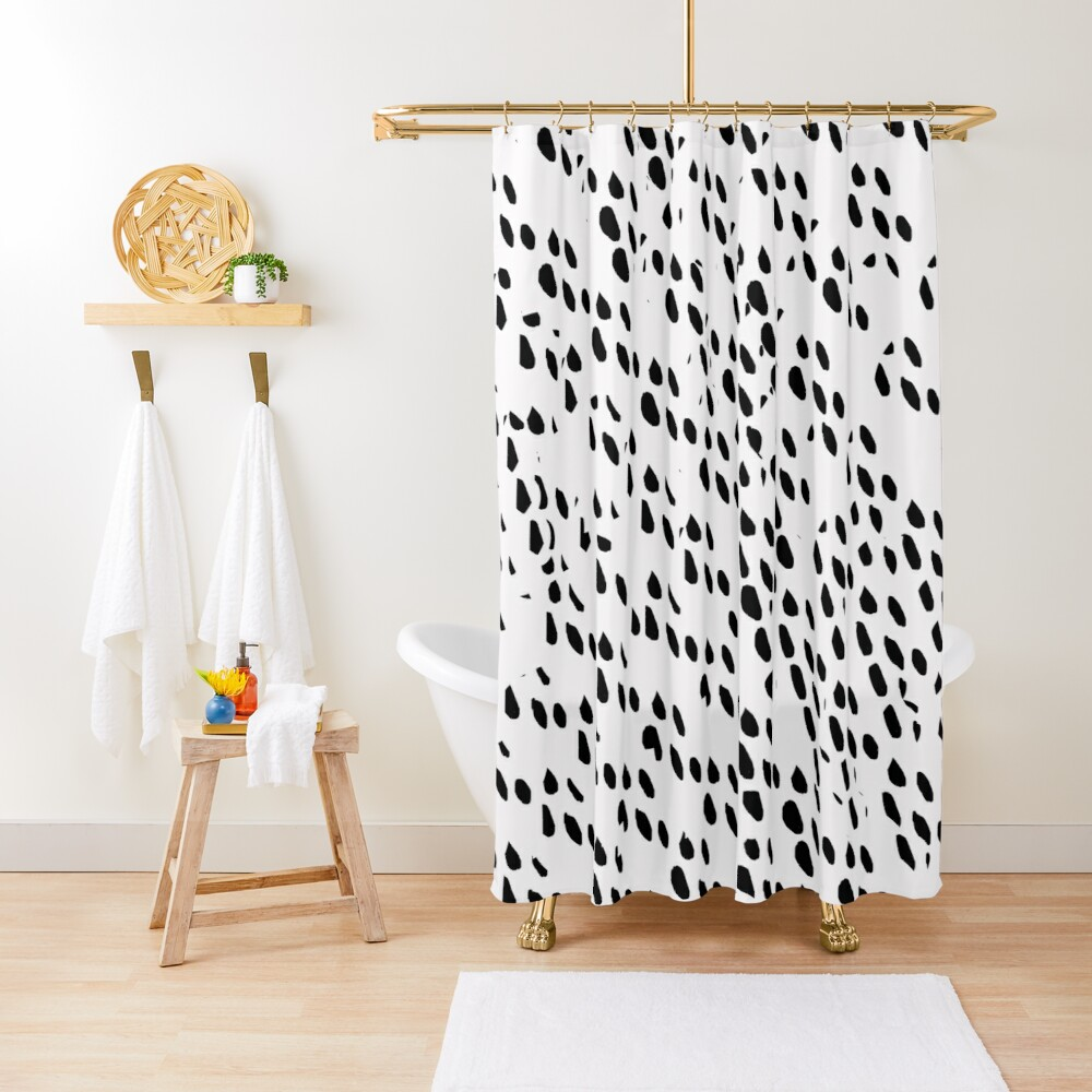 Ink Spots Shower Curtain