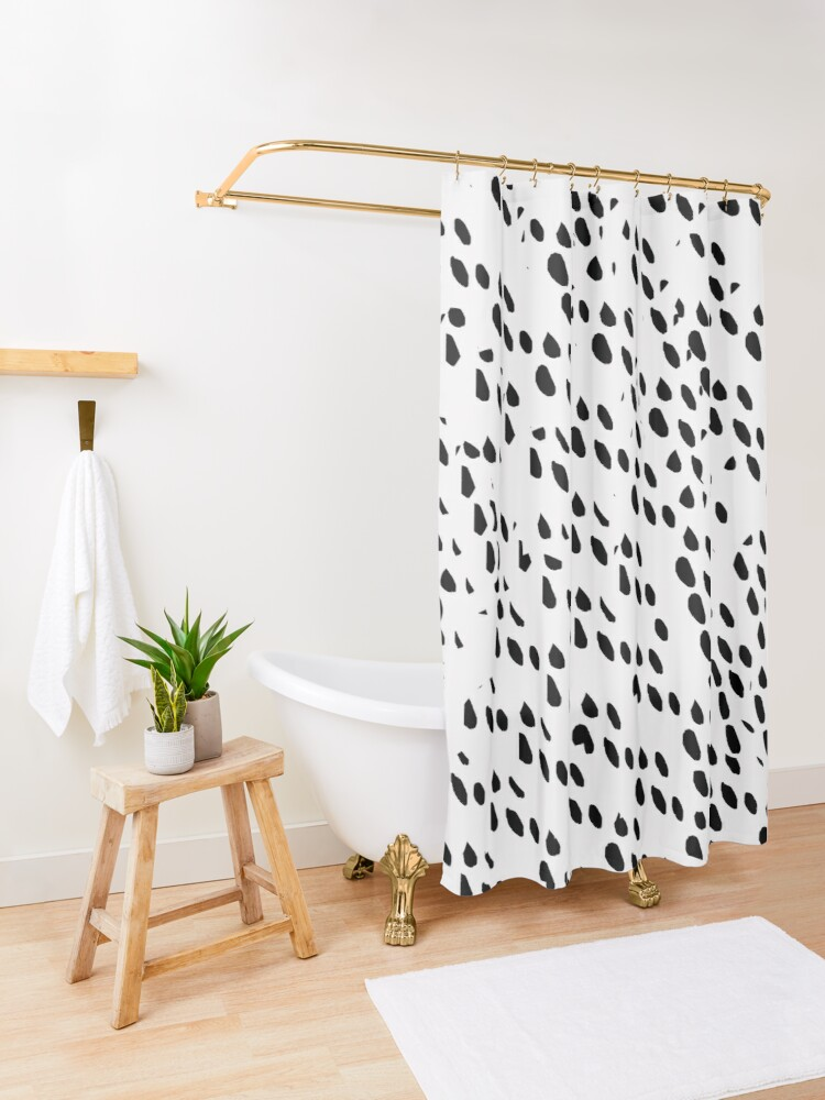 Alternate view of Ink Spots Shower Curtain
