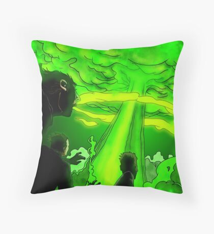 The Begining of the End Throw Pillow