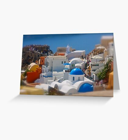 Santorini . Oia . (Greece) by Brown Sugar . Merry Christmas Everyone ******* F** Views (1517) . Favs (4) thanks , dzięki !!! Greeting Card