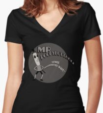 The Mr. Poopybutthole Show Women's Fitted V-Neck T-Shirt