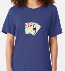 Deck of Lucky Ace Cards - Poker T-shirt Sticker Slim Fit T-Shirt