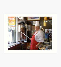Doner Kebab Chef Art Print