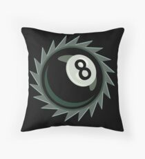 The Eight Ball Buzz Saw Throw Pillow