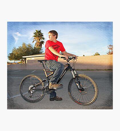 Eric on His New Bike Photographic Print