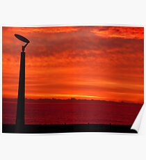 Fiery Autumn sky Poster