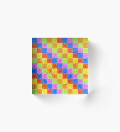 #DeepDream color factures Acrylic Block