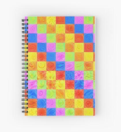 #DeepDream color factures Spiral Notebook
