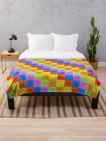 #DeepDream color factures Throw Blanket