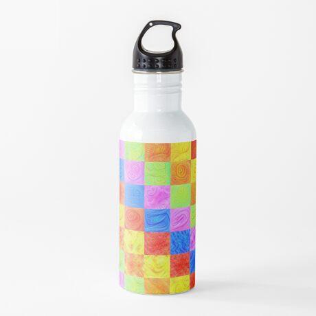 #DeepDream color factures Water Bottle