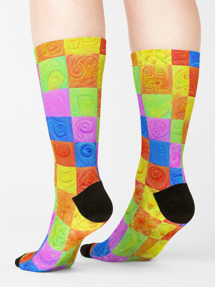 Alternate view of #DeepDream color factures Socks