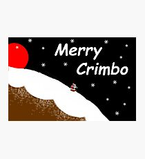 Merry Crimbo Photographic Print