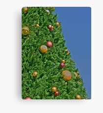HDR - Christmas Tree and Blue Sky Canvas Print