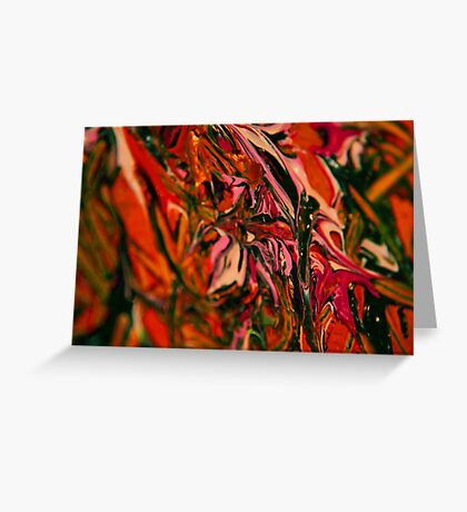 textured paint Greeting Card