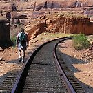 Walking The Line - Potash Mine Railroad Line, San Juan County, UT by Rebel Kreklow