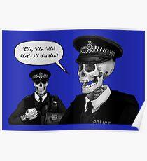 Skeleton Police (Blue) Poster
