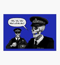 Skeleton Police (Blue) Photographic Print