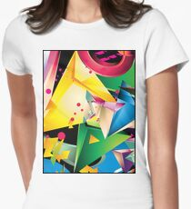 Abstract Design (Large Graphic) Women's Fitted T-Shirt