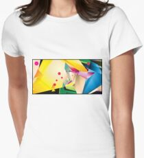 Abstract Design (Small Graphic) Women's Fitted T-Shirt