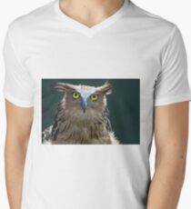 The Intense Yellow-eyed Stare V-Neck T-Shirt