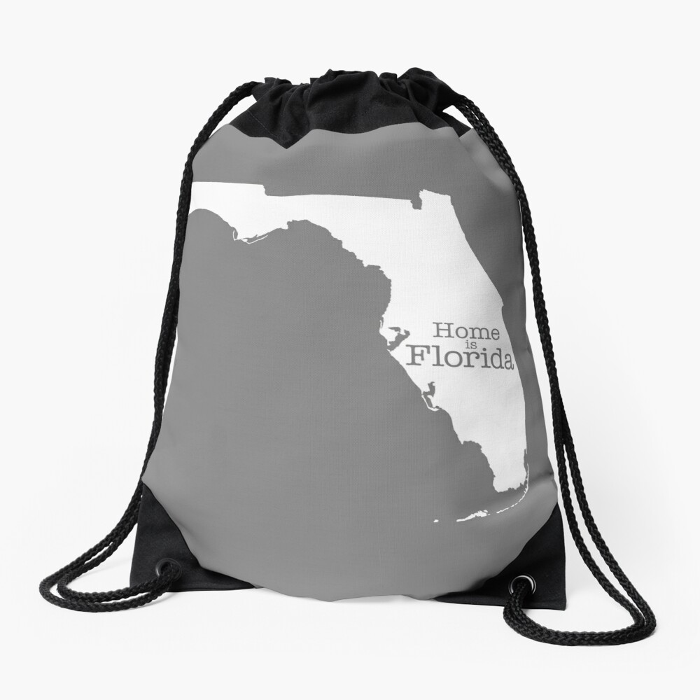 Home is Florida Drawstring Bag