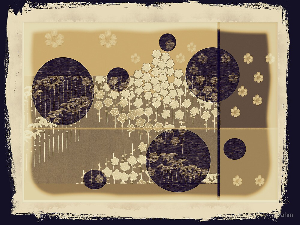 Yahm  Vintage - Rice Paper Screen by Yahm