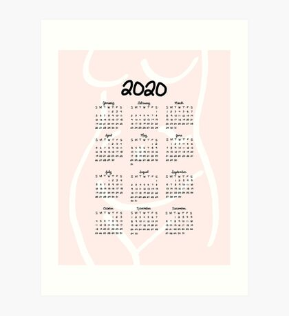 A Woman's Body | 2020 Calendar Art Print