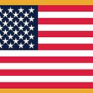 US Flag with gold by jcmeyer