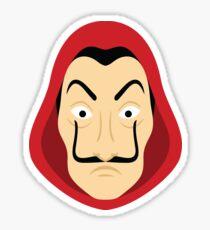 Money Heist Mask: HI-RES Sticker
