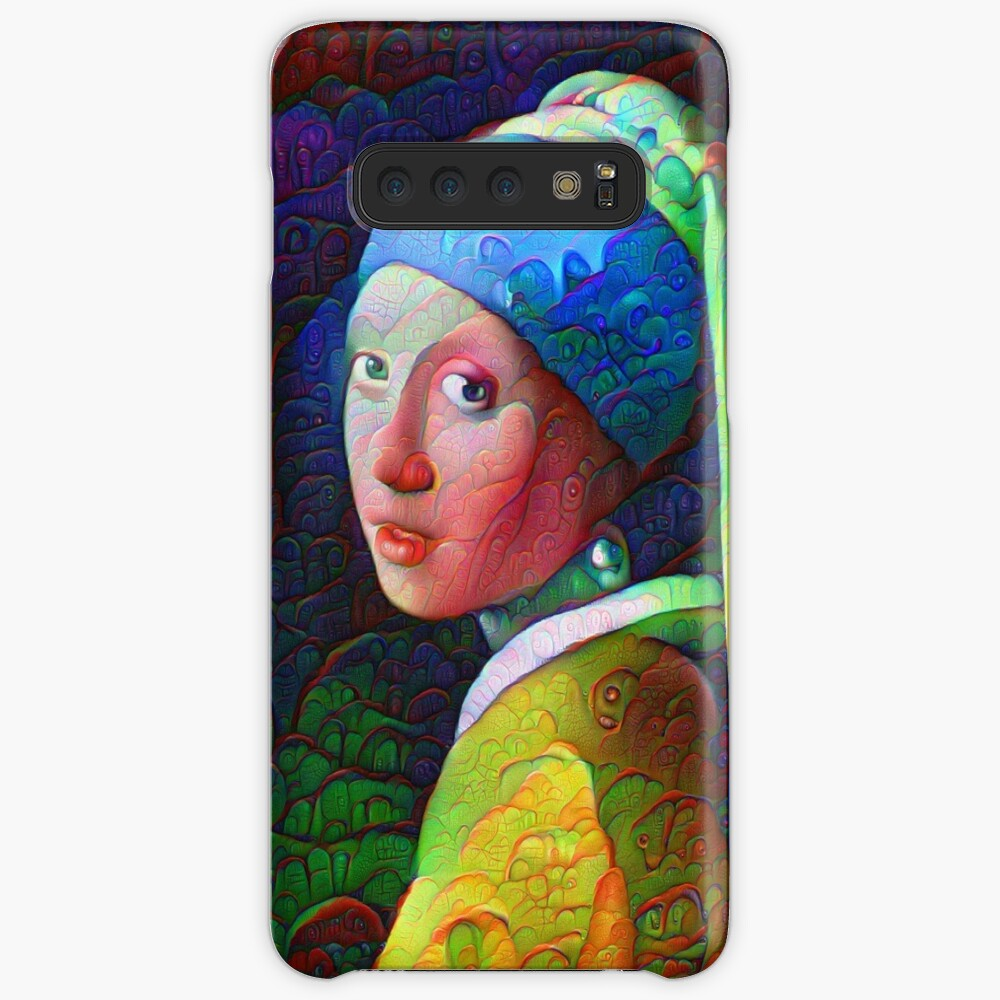"""DeepDreamed """"Girl with a Pearl Earring"""" Case & Skin for Samsung Galaxy"""