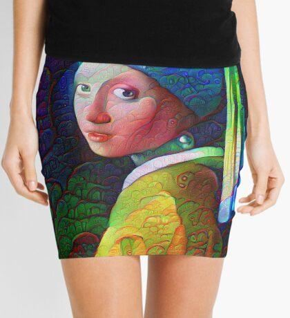 "DeepDreamed ""Girl with a Pearl Earring"" Mini Skirt"