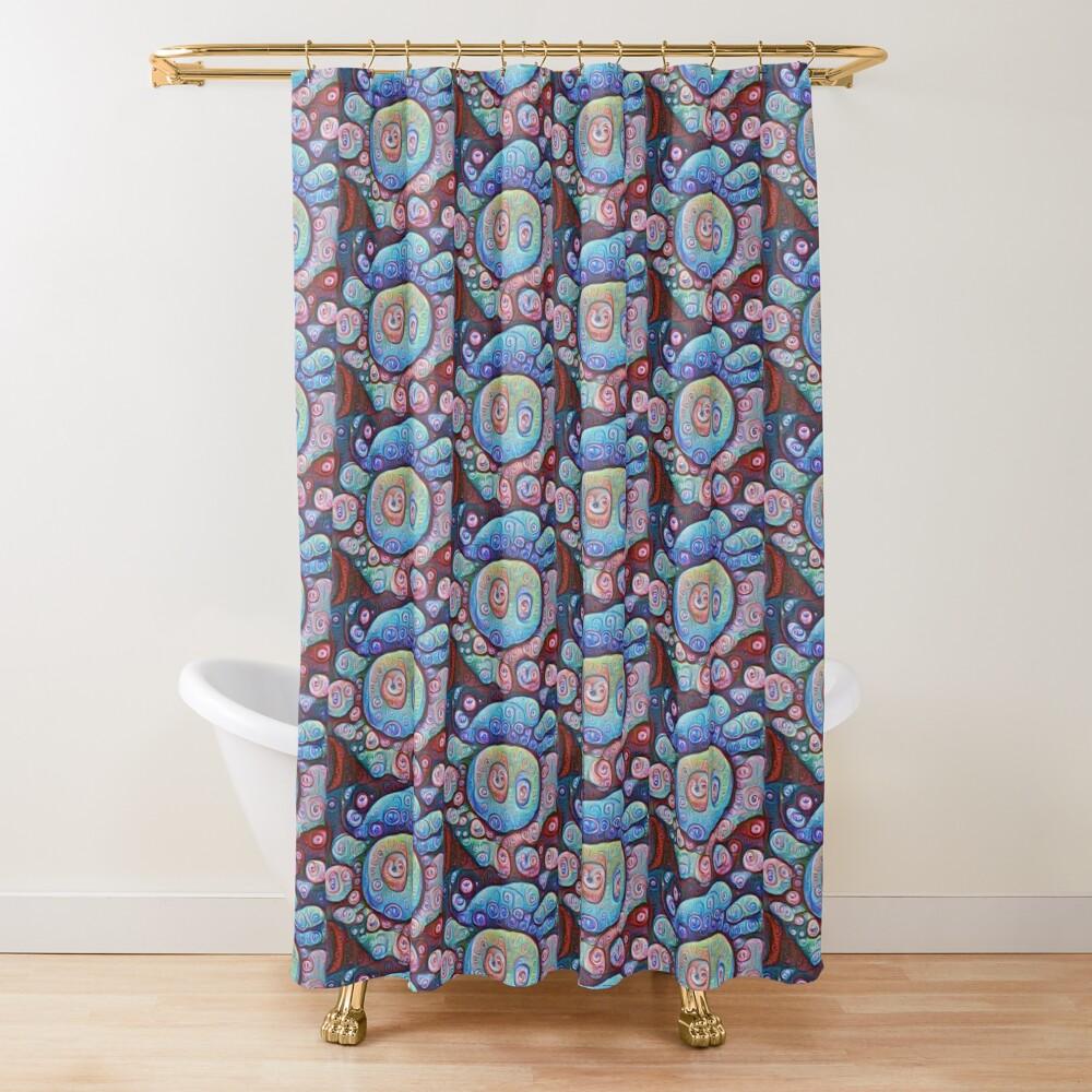 #DeepDream Ice Shower Curtain