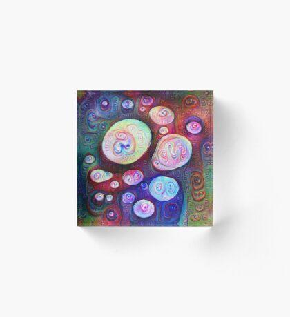 #DeepDream bubbles on frozen lake 5x5K v1450615886 Acrylic Block