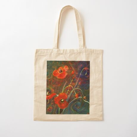Poppies Cotton Tote Bag