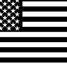 US Flag in black by jcmeyer