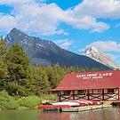 Maligne Lake in Banff Alberta Canada by Michelle Callahan