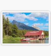 Maligne Lake in Banff Alberta Canada Transparent Sticker