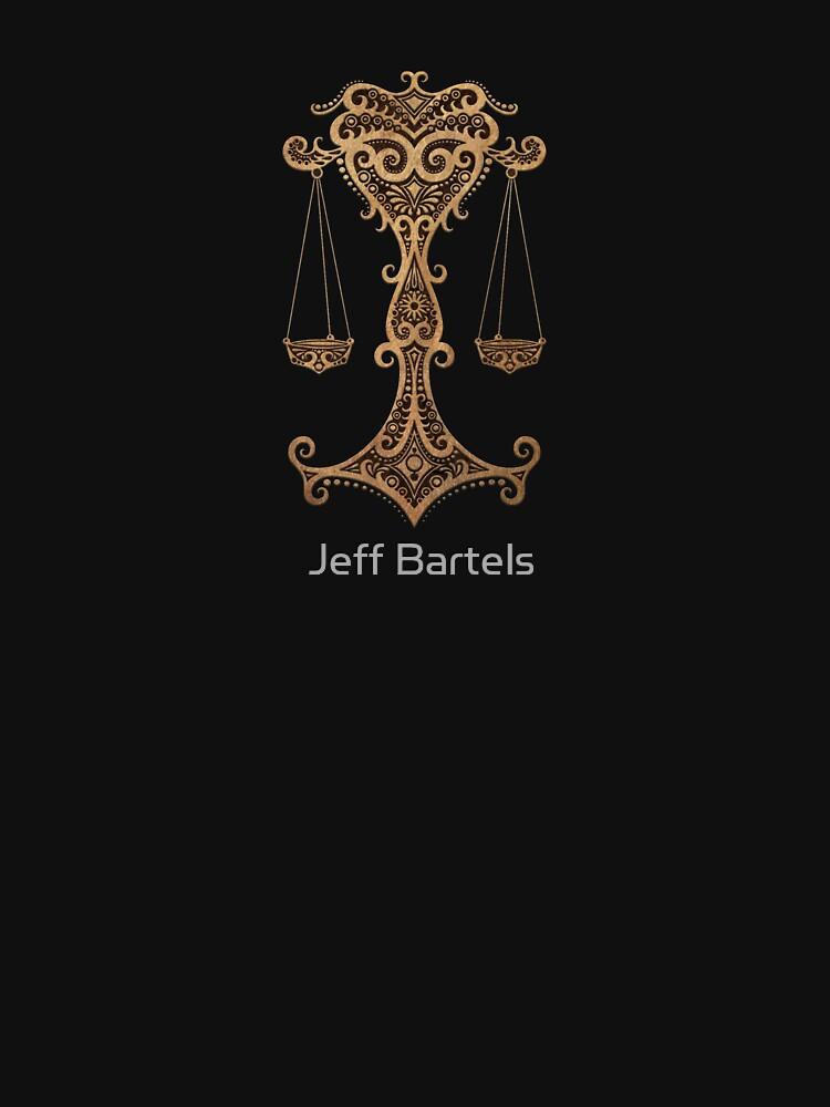 Rustikales Waage-Sternzeichen auf Schwarzem von JeffBartels