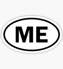 Maine - ME - oval sticker and more Sticker