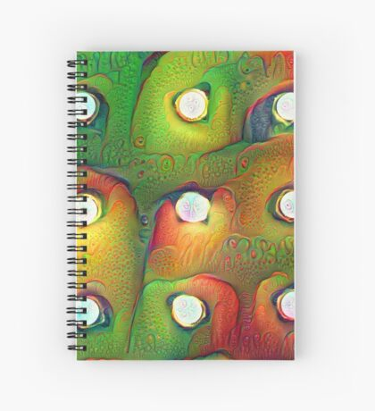 #DeepDream Lights Spiral Notebook