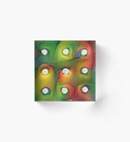 #DeepDream Lights Acrylic Block