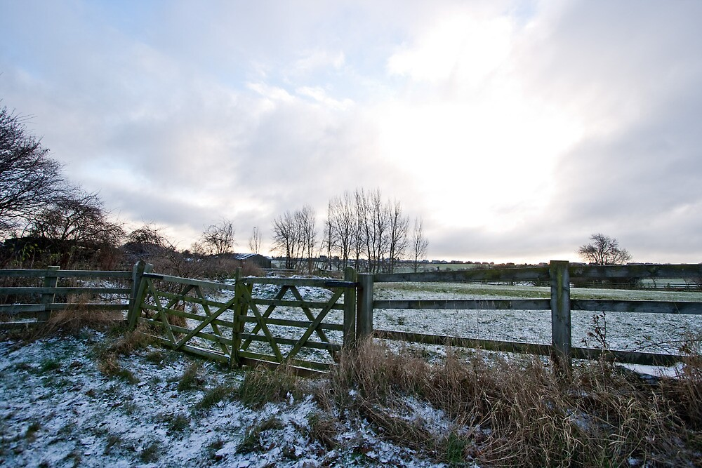 Yorkshire snow scene by Martin Canning