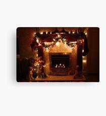 Christmas Around the Fireside Leinwanddruck