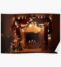 Christmas Around the Fireside Poster