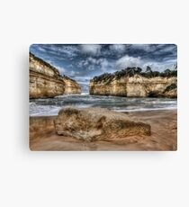 Scratched into stone - Loch Ard Gorge Canvas Print