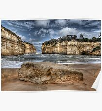 Scratched into stone - Loch Ard Gorge Poster