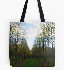 Tree lane Tote Bag