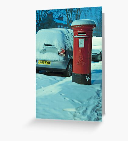 Cold Letters, Warm Heart: Snowy Letterbox Greeting Card