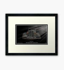 1933 Oldsmobile Touring Sedan - Rum Runner Framed Print