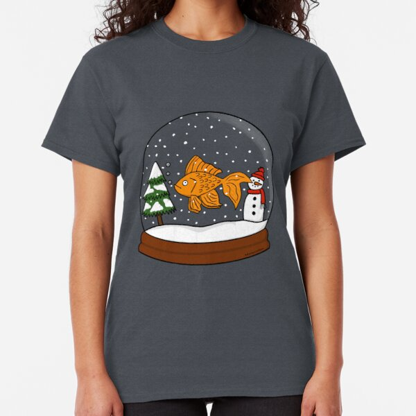 Christmas Goldfish Snowglobe  Classic T-Shirt